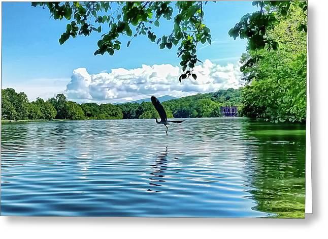 Take Flight Shenandoah River Greeting Card by Lara Ellis