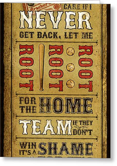 Game Mixed Media Greeting Cards - Take Me Out the the Ballgame Greeting Card by Jeff Steed