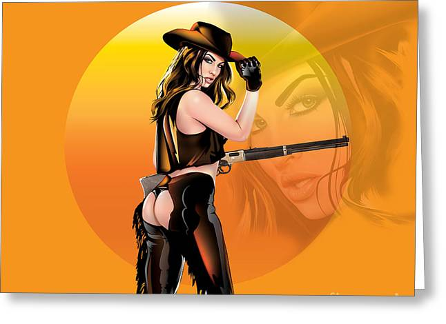 Greeting Card featuring the digital art Take Me To The Wild Wild West by Brian Gibbs