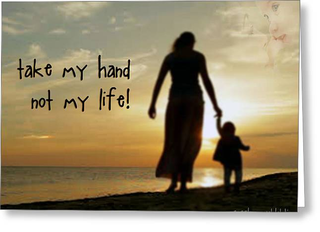 Take My Hand Greeting Card by Samuel Epperly