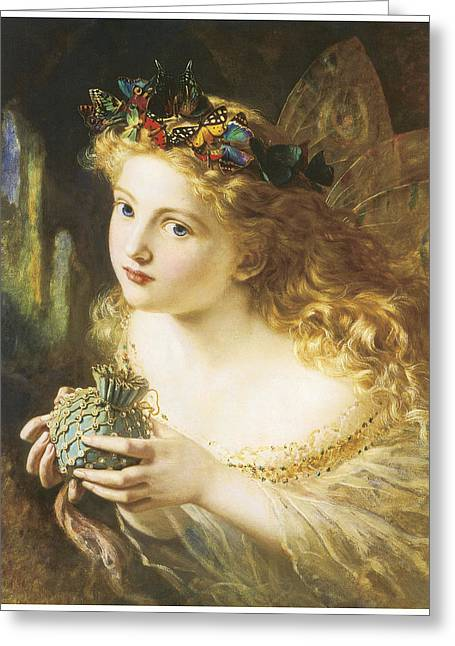 Sophie Greeting Cards - Take the Fair Face of Woman Greeting Card by Sophie Anderson