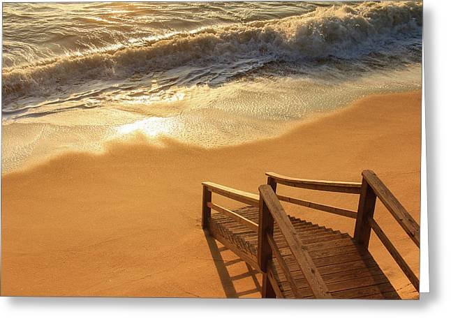 Take The Stairs To The Waves Greeting Card