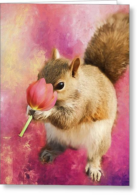 Take Time To Smell The Flowers Greeting Card by Darren Fisher