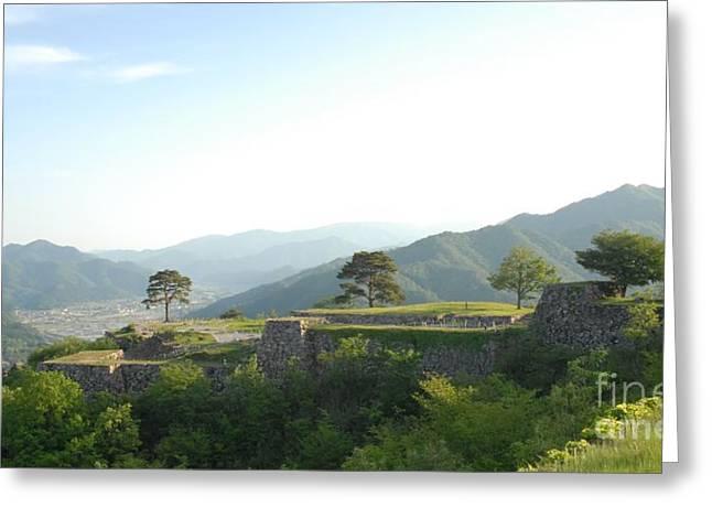 Takeda Castle By Taikan Greeting Card by Taikan Nishimoto