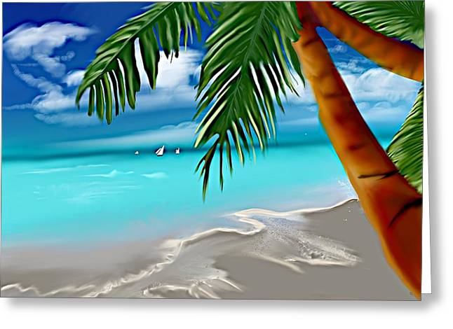 Takemeaway Beach Greeting Card