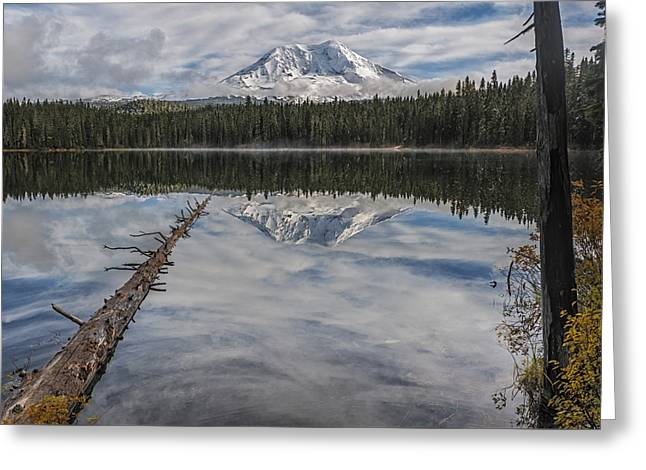 Takhlakh Lake With Mount Adams Greeting Card