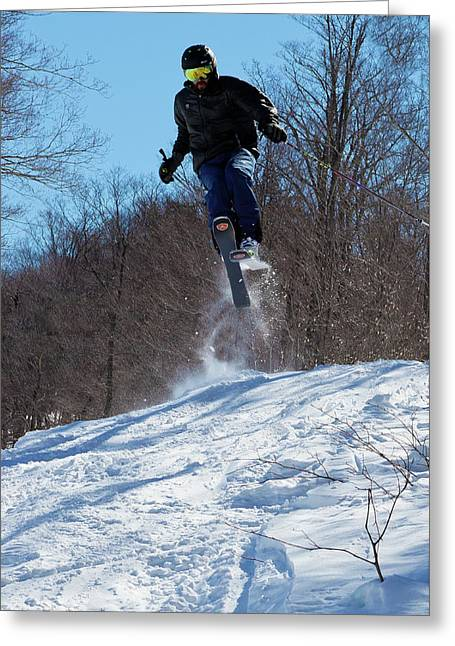 Taking Air On Mccauley Mountain Greeting Card