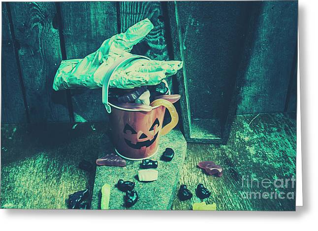 Taking Candy From The Little Monsters Greeting Card by Jorgo Photography - Wall Art Gallery