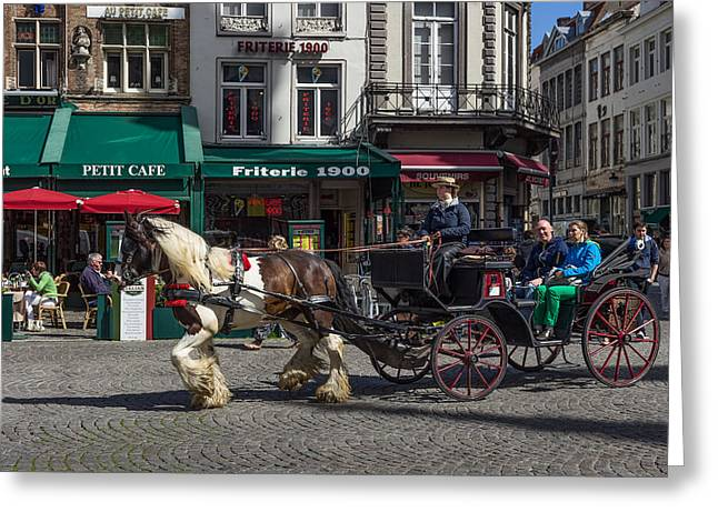 Taking In Brugge  Greeting Card by Capt Gerry Hare