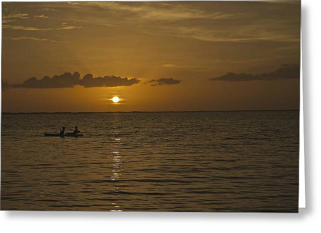 Taking In The Sunset Greeting Card by Christin Walton