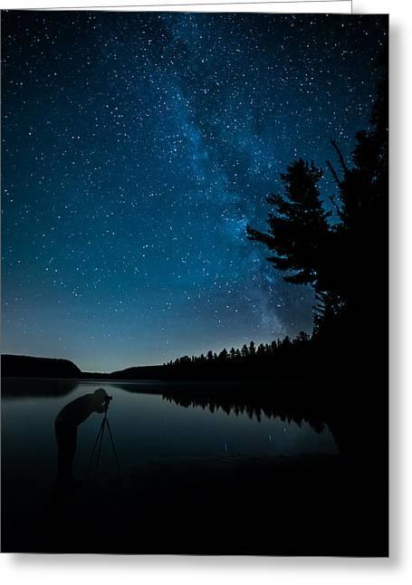 Taking Milky Way Photos Greeting Card by James Wheeler