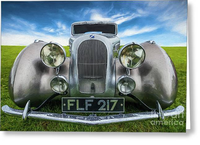 Talbot T23 Figoni Et Falaschi Coupe Greeting Card by Adrian Evans