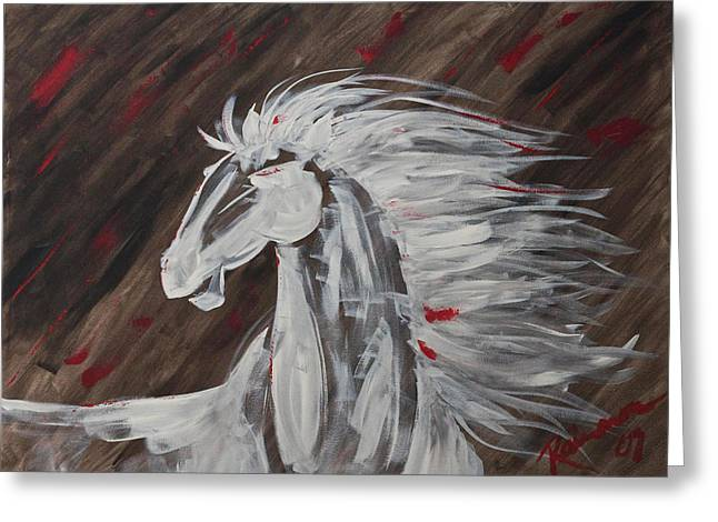 Tale Of The Wind Horse Greeting Card by Stephane Trahan