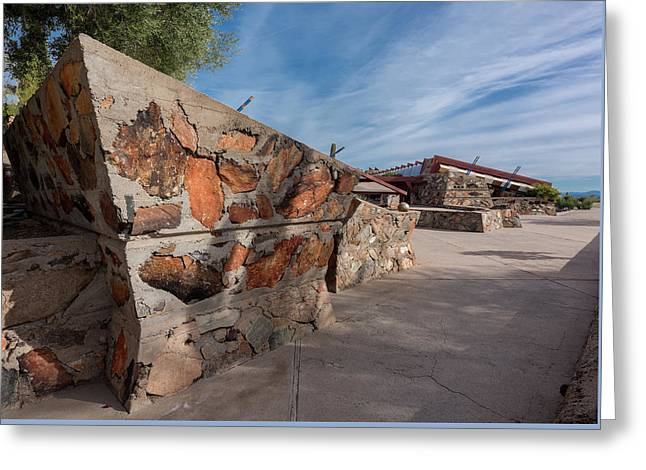 Taliesin West Entrance Court Greeting Card