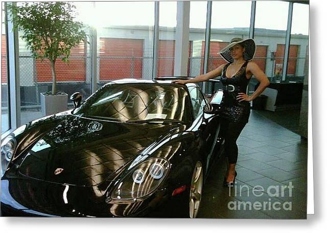 Talisa Hartleys Sports Cars And Big Muscles Greeting Card