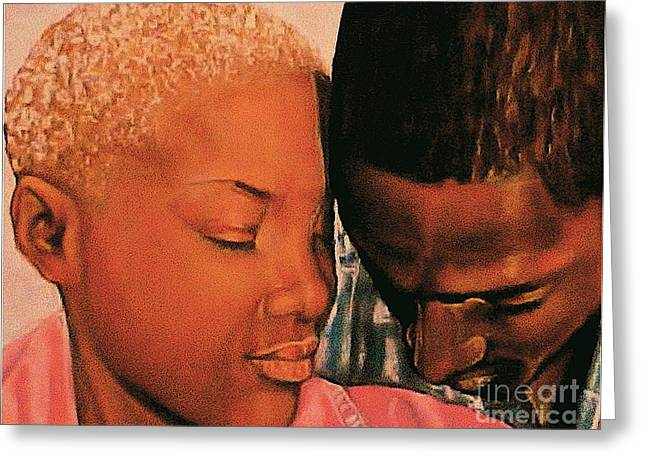 Talk To Me Baby II Greeting Card by Curtis James