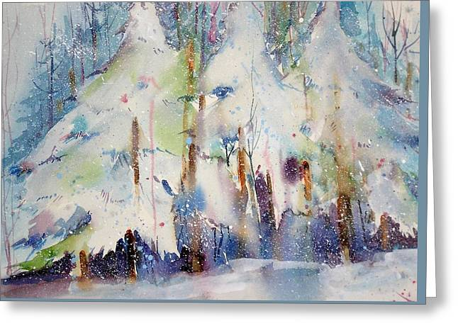 Talk To The Trees Greeting Card by Maurie Harrington