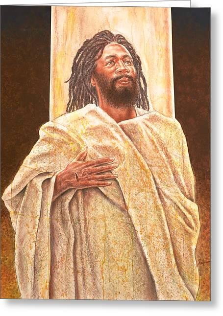 Talkin' Bout Jesus Greeting Card by Raymond Walker