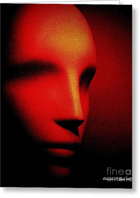 Talking Head Red Greeting Card