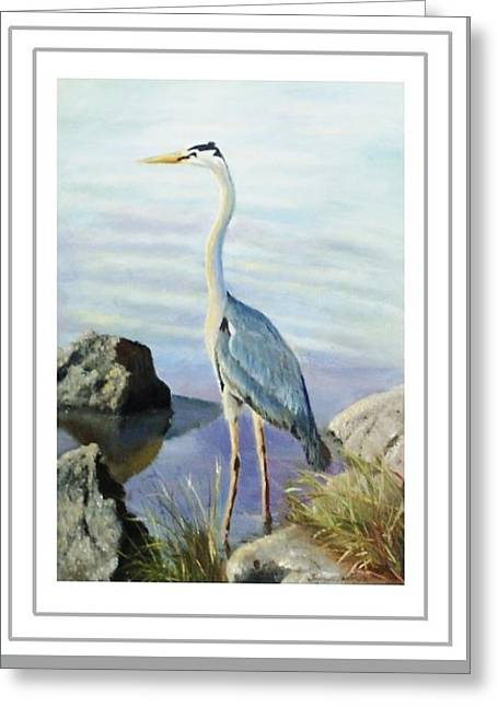 Tall Fellow Art Card Greeting Card by Harriett Masterson