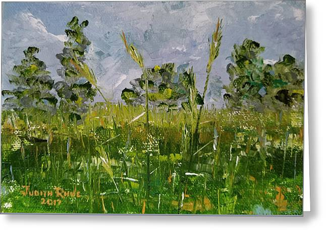 Greeting Card featuring the painting Tall Grass by Judith Rhue