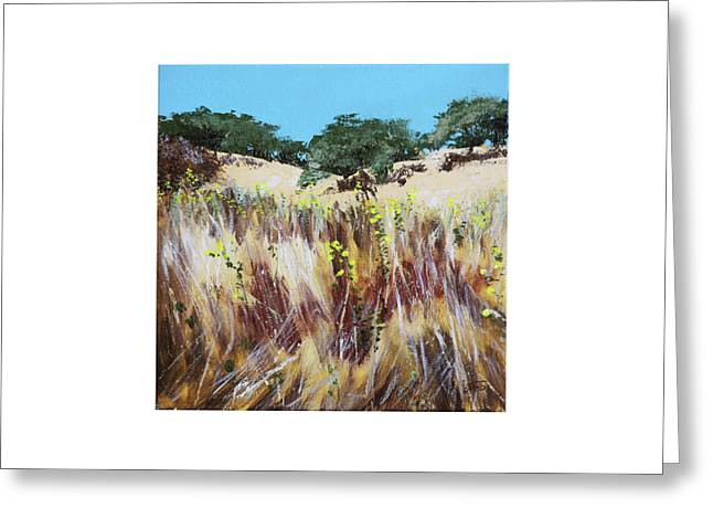Tall Grass. Late Summer Greeting Card