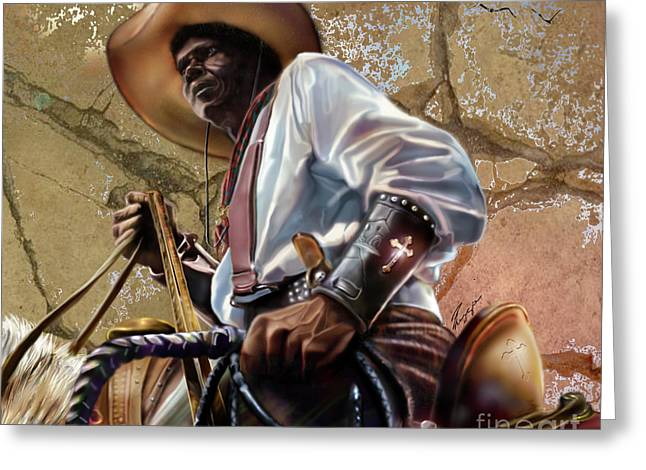 Tall In The Saddle Cowboy Pride 1a Greeting Card