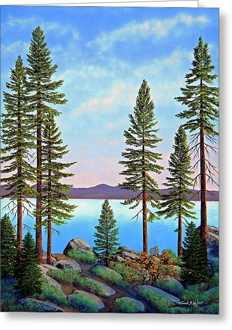 Tall Pines Of Lake Tahoe Greeting Card