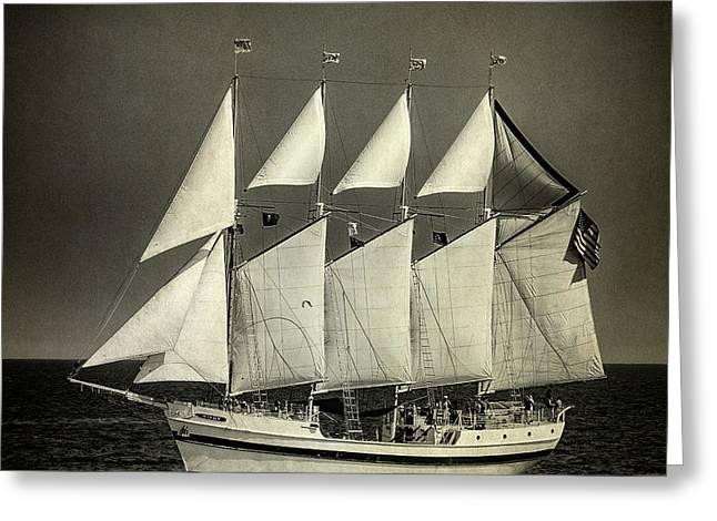 Tall Ship Greeting Card by Bob Nardi