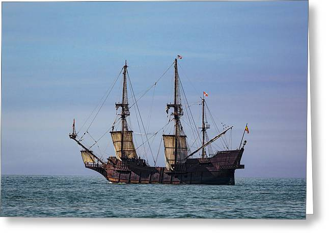 Tall Ship El Galeon Greeting Card by Dale Kincaid