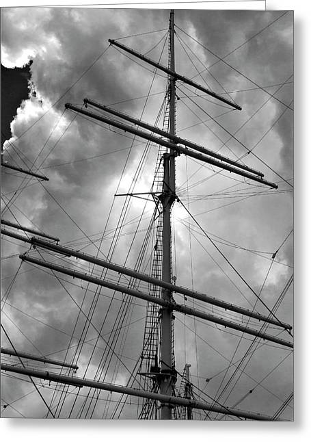 Tall Ship Masts Greeting Card by Robert Ullmann