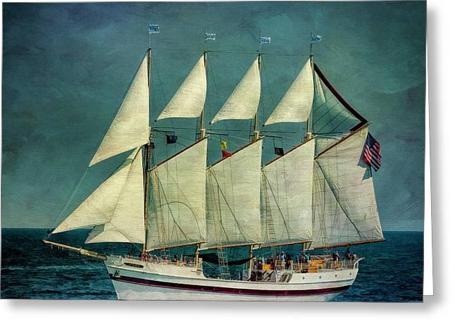 Tall Ships Greeting Card by Bob Nardi