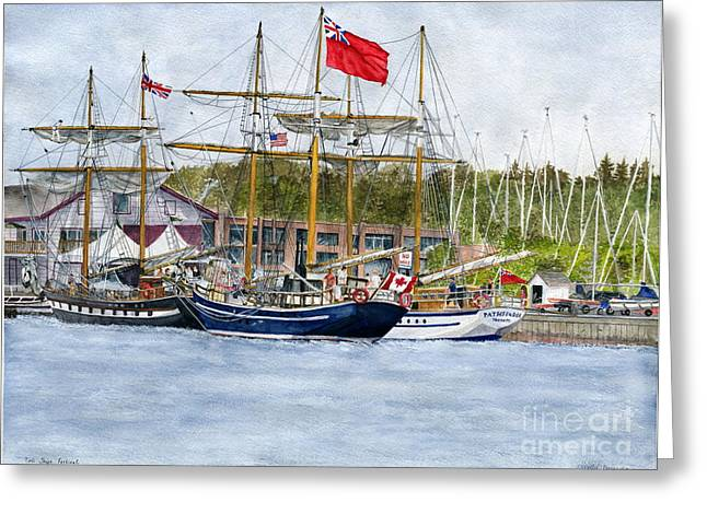 Greeting Card featuring the painting Tall Ships Festival by Melly Terpening