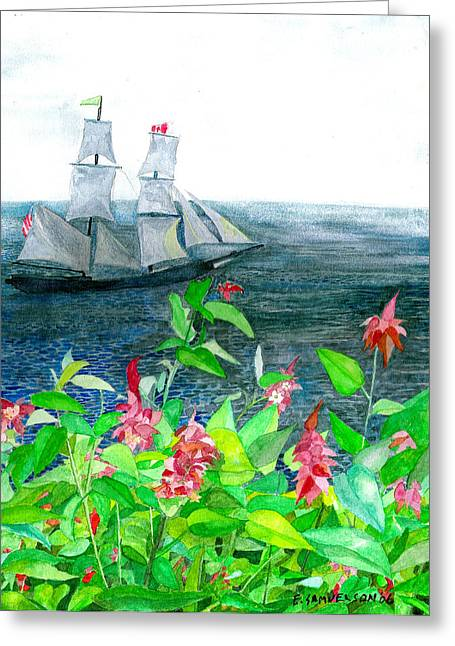 Tall Ships In Victoria Bc Greeting Card by Eric Samuelson