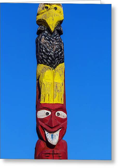 Tall Totem Pole Greeting Card by Garry Gay