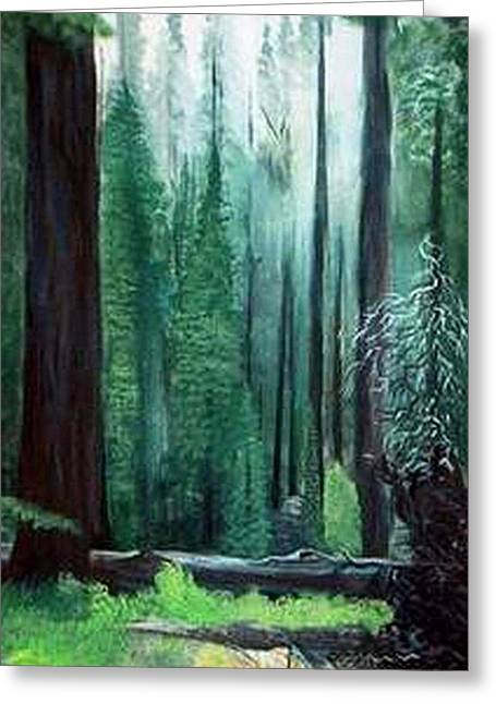 Tall Trees Greeting Card by Julie Lamons