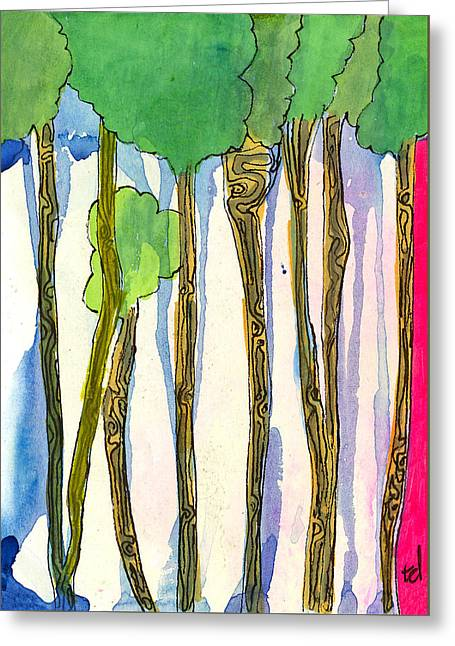 Tall Trees Greeting Card by Tonya Doughty