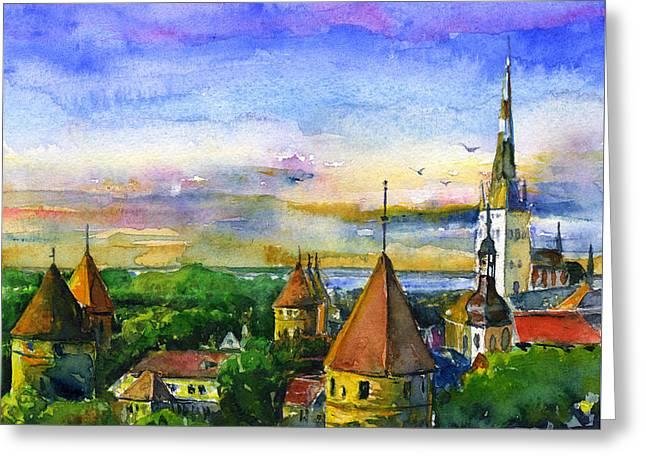 Tallinn Estonia Greeting Card