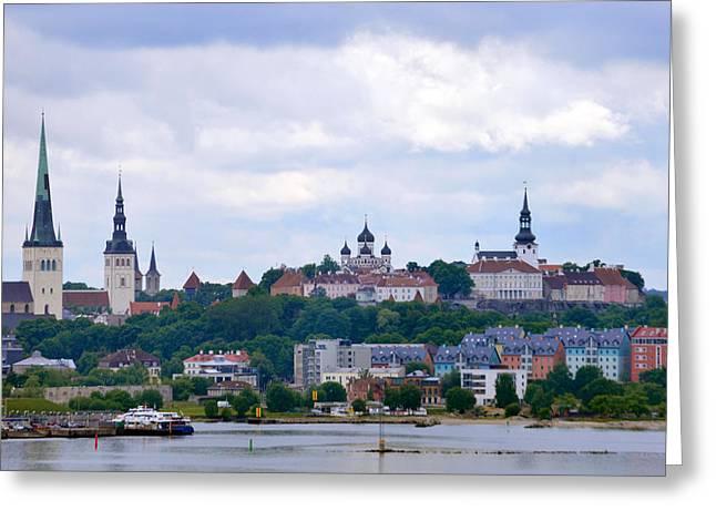 Tallinn Estonia. Greeting Card by Terence Davis