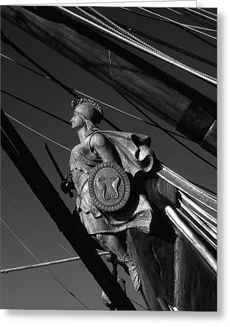 Tallship Figure Head Greeting Card