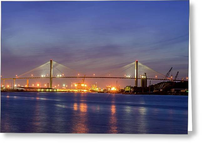 Talmadge Memorial Bridge Greeting Card by Rob Sellers