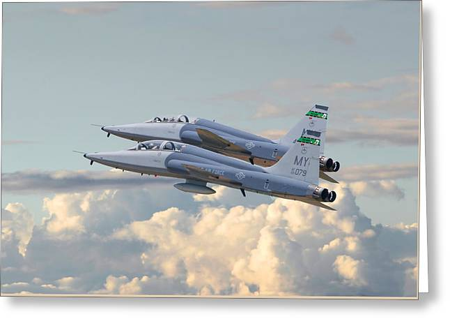 Talon T38 - Supersonic Trainer Greeting Card by Pat Speirs