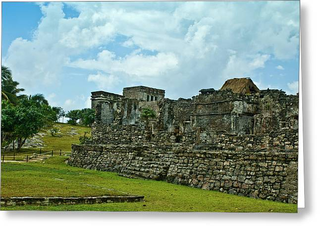 Solidity Greeting Cards - Talum Ruins 4 Greeting Card by Douglas Barnett