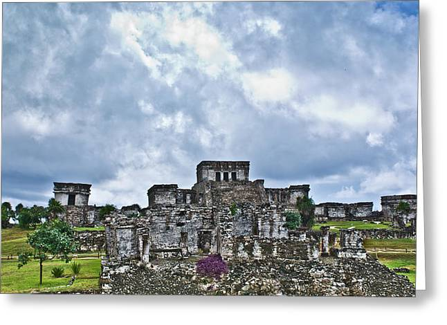 Yearning Greeting Cards - Talum Ruins 8 Greeting Card by Douglas Barnett