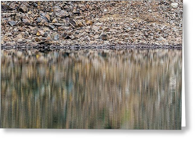 Greeting Card featuring the photograph Talus Reflection by Alexander Kunz