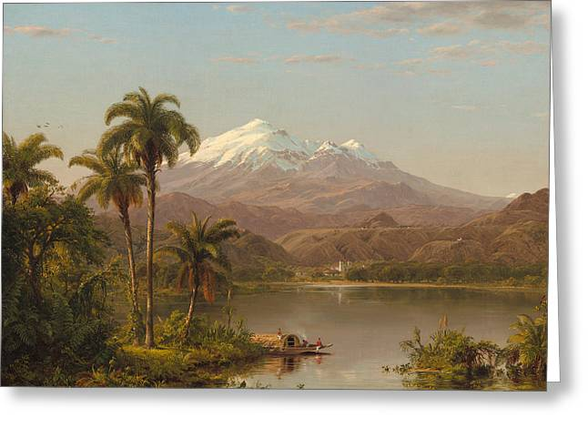 Tamaca Palms Greeting Card by Frederic Edwin Church