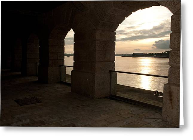 Tamar Estuary Sunset Greeting Card