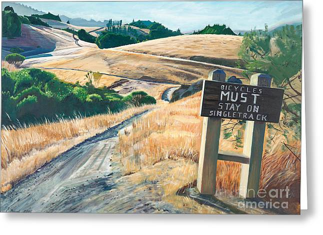 Tamarancho Trek Greeting Card by Colleen Proppe