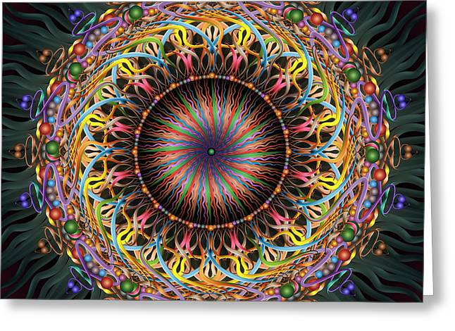 Tambourine Greeting Card by Becky Titus