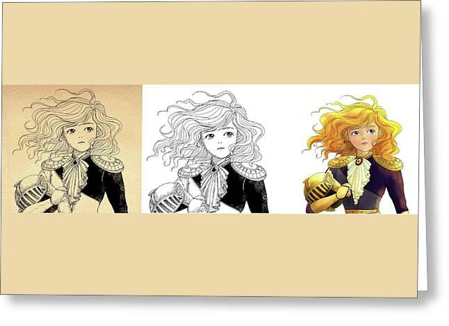 Tammy Portrait  Restorations Greeting Card